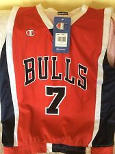 CHICAGO BULLS BASKET PALLACANESTRO NBA CANOTTA CHAMPION NUOVA N° 7 BEN GORDON
