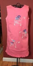 Trish Scully Girls Sz. 4 Apricot 3D Embellishes With Embroidered Planters  Dress