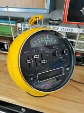 Rare !!! Yellow Weltron 2001 Am /fm 8 Track Player , 1970's space helmet .