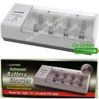 Lloytron Universal Charger for AA AAA C D 9V Batteries