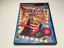 Buzz! The Mega Quiz (Playstation PS2) Black Label Original Complete Nr Mint!