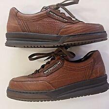 Sz US 6 UK 3.5 Mephisto Match Tan Grain Leather Lace Up Walking Shoes Women