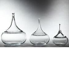 Large Hand Blown European Water Drop Decorative Jar