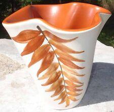 -Vase Automnal Fougères Céramique Vintage 1960 par Elchinger