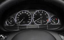 ANNEAUX CROMADO CONTADOR AROS MARCADOR para BMW E46 Série 3 1998-06 320 325 330d