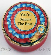 Halcyon Days Enamels You're Simply The Best  Enamel Box