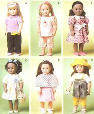 Doll Clothes to SEW PATTERN McCalls 6526 Dress Capelet shoes hat pjs fit AG 18in