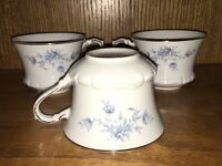 SEYEI Fine China of Japan ELEGANT LADY #7002 Set Of 3 Tea Coffee Cups