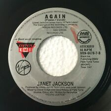 "JANET JACKSON Again b/w Again Piano Vocal PHILIPPINES 7"" 45 RPM Records"