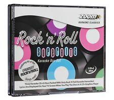 Zoom Karaoke CD+G - Rock 'n' Roll Superhits - Triple CD+G Karaoke Disc Pack
