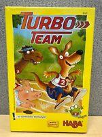 Haba Turbo Team Board Game. Animal Race Dice Children's Game. Germany 4247