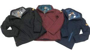 Timberland Mens 3 in 1 Jacket With Fleece inner Jacket Navy Blue Black Burgundy
