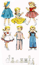 "Saucy Walker by Ideal 22"" Doll Clothing PATTERN 4509 Bonnie Braids Overalls Top"