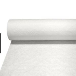 100M WEDDING PARTY TABLE BUFFET BANQUETING BANQUET ROLL WHITE PAPER COVER