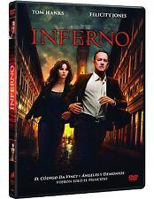 INFERNO DVD NUEVO ( SIN ABRIR ) TOM HANKS Y FELICITY JONES VINCI ROBERT LANGDOM