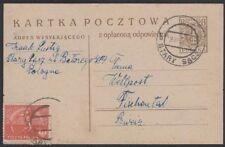POLAND, 1923. Post Card H&G 40, 155A, Stary Sacz - Zurich