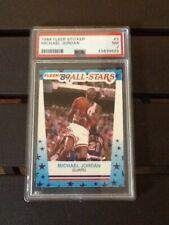 1989 Fleer Michael Jordan #3 All-Star Sticker Bulls PSA 7 Hott!!!