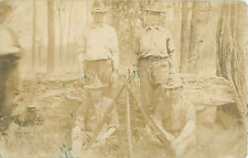 RPPC 1904-1918 Military Camp Soldiers w/Bolt Rifles Unsure of War Postcard
