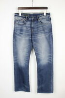 ARMANI EXCHANGE Men W34/~L31* Straight Fade Effect Whiskers Blue Jeans 31197-GS