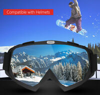 OTG Design Snowboard Snowmobile Pro Ski Goggles Anti-Fog Double Layer PC Lens