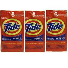 "3pk Tide Travel Size Laundry Detergent Original Scent ""Acti Lift"" *Free Ship*"