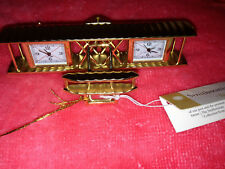 BULOVA LOT OF 1WRIGHT BROS FLYER #B6210 MINIATURE COLLECTIBLE MINI CLOCK