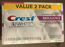 Crest 3D White Brilliance Mesmerizing Mint Toothpaste - 8.2 oz, Pack of 2