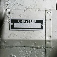 Chrysler Identification # Dataplate Serial Number ID Tag Muscle Car Desoto Mopar