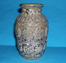 West German Studio Pottery - Attractive Raised Relief Design Small Vase (M.M).