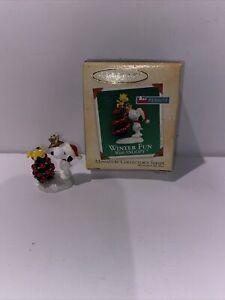 Hallmark Keepsake Ornament Winter Fun with Snoopy Miniature Mini 2004
