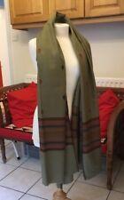 Jewish Prayer Shawl Tallit Multi Olive Green Stripes Very High Quality Wool