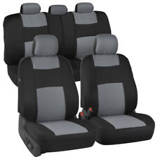 ProPoly Full Set Car Seat Covers Silver Gray - Front Rear Universal Fit