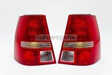 VW Bora 98-05 Estate Red Clear Rear Lights Lamps Pair Set Driver Passenger
