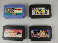 Dragon Ball 4 Games Bundle - Nintendo Famicom FC - Bandai - Japan Import