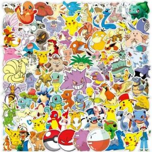 100 Pokemon Stickers Decorate Laptop Phone Books Tablets Party Bag Wall Decal UK
