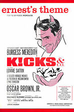 "Burgess Meredith ""KICKS and Co."" Oscar Brown, Jr. 1961 Musical FLOP Sheet Music"