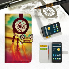 Dream Catcher Phone Wallet Case Cover For Telstra Alcatel 1C -- A008