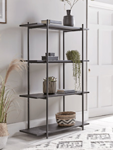Cox & Cox Living Room Modern Black Ash Shelving Unit - RRP £238