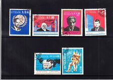 Ecuador, Churchill, Albert Schweitzer,Kennedy , 6 Stk. gestempelt