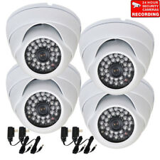 4 Dome Security Camera w/ SONY Effio CCD 28 IR LED Infrared Wide Angle Power wtd