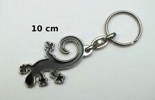 porte clé métal, lézard noir, gecko, salamandre