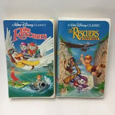 Disney's The Rescuers Black Diamond Edition VHS + The Rescuers Down Under VHS