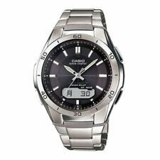 Casio WVA-M640TD-1AER WaveCeptor Radio Controlled Watch Titanimum with Grey Dial