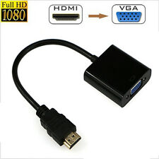 1080P HDMI Male to VGA Female Video Cable Cord Converter Adapter for PC Black