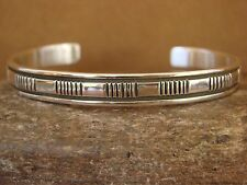 Native American Indian Jewelry Sterling Silver Bracelet by Bruce Morgan!