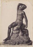 Fauna Addormentato Scultura Classico Greco-Romana Foto Vintage Albumina