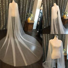 Wedding Cloak Bridal Capes Tulle White Ivory Jackets 3M Long Shawl Shoulder Veil