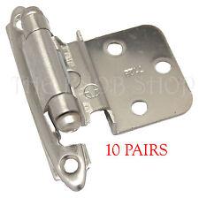 """20 Amerock Satin Nickel 7128-G10 3/8"""" Offset Inset Door Cabinet Hinge Hardware"""