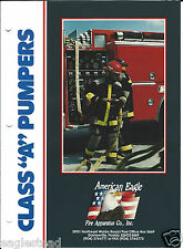 Fire Truck Brochure - American Eagle - Class A Pumpers  (DB166)
