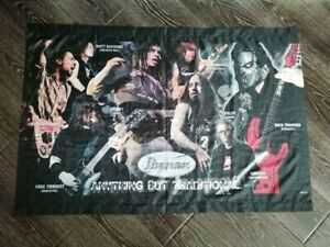 """Ibanez Guitar Banner Flag  Feat Korn Slipknot and other 47"""" x 31"""""""